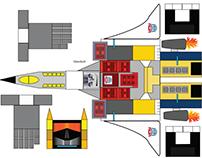 Transformers Ariel Bot Paper Toy