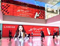 Laneige Billboard in ION Fashion Gateway