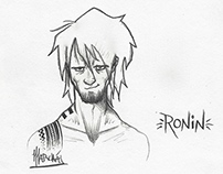 Character Design (rough) Sketches - Ronin