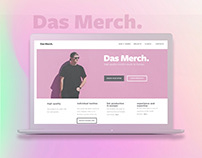 Das Merch. Web-design concept.