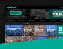 Hashwall webdesign concept