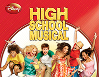 Disney: High School Musical Cookbook Design
