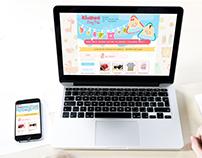 Web Design for Khansa Baby Kids Shop