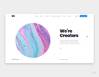 Minimal Landing page for Photographers