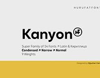 Kanyon Sans Serif By:Hurufatfont