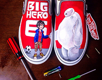 Hand painted Big Hero 6 shoes