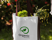 Organic Shopping Bag Mock-Up