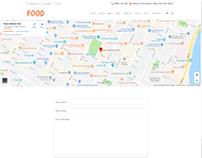 Find Us Page - Food WordPress Theme