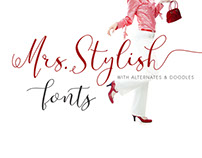 Mrs Stylish Font Family Modern Calligraphy with Extras