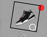 Jordan Black Cement 3's