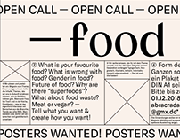 OPEN CALL — FOOD POSTERS