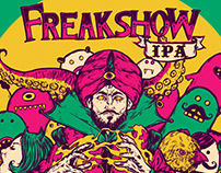 Beer label illustration for Freakshow