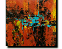 Acrylic on canvas Abstract art for SALE