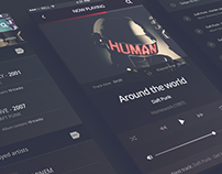 Philomela – iPhone 6 Music Player PSD