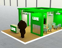 3D Booth Design for LINE