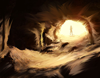 cave digital drawing