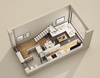 Interior 3D plan visualization