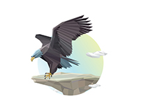 Eagle Stand // low polygon animals