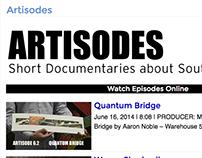 Artisodes Website Redesign