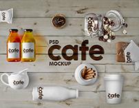 Cafe Branding & Packaging Mockup