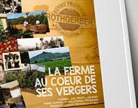 Conception d'un Leaflet  Ferme Fruitière Rothgerber