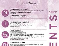 Resort Calendar - Weekly Events