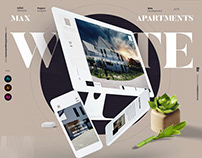 Max White Apartments Web&Brand Design