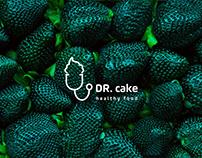 DR. cake logo identity