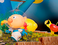 PIKMIN 3 - INTERACTIVE DIORAMA AND ANIMATION - FAN ART
