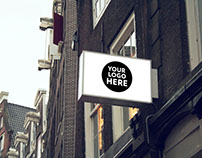 Free 8 Shop Signs Mockup Bundle