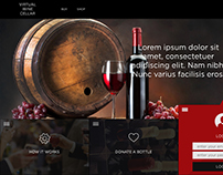 Virtual Wine Cellar web design