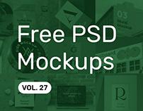 Free PSD Mockups vol. 27