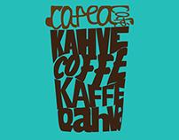 Kahve Tipografi çalışması