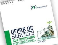 Document de présentation – PAF Financement