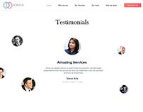 Client Testimonial Web Page Design