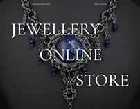 Jewellery online store design UX/UI concept