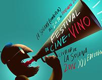 """Concurso, diseño de cartel """"Festival de Cine y Vino"""""""
