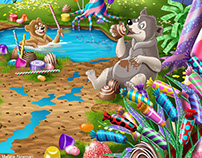 Candy World Pond Party
