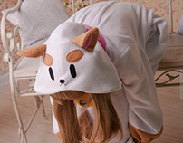 Puppycat animal onesie sale-pajama.com
