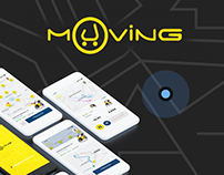 Muving. Moto sharing app concept.