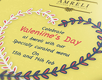 Valentine's Day Menu - Amreli Kitchen & Cocktails