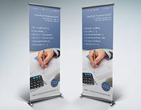 Roll-Up Bannergestaltung für Finanzdienstleister