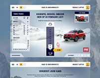 Renault Captur the snow