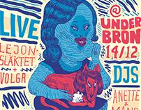 Fonomonik Records Label Night Poster Design