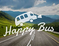 Visual identity for the company Happy Bus