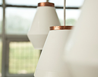 Ceramic and Copper Lamp