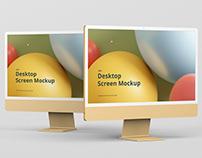 Desktop Screen Mockup 2021