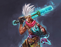 Ekko Fan Art LOL