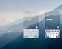Log in page and interaction design