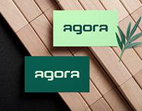 Logotype design for Agora brand.